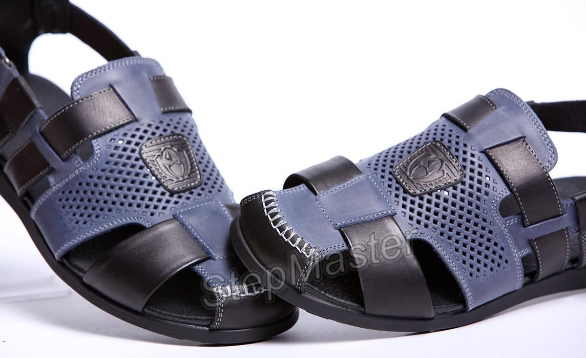 Сандалии кожаные Kristan Nubuck Blue-Black