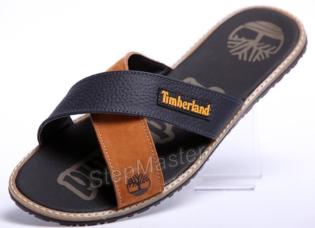 Шлепанцы кожаные Timberland