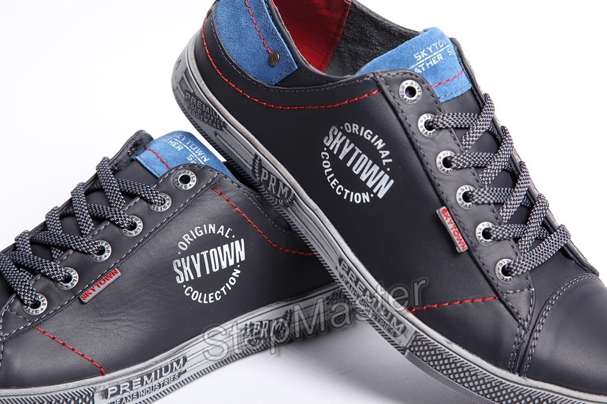Кеды кожаные Sky Town Premium Denim