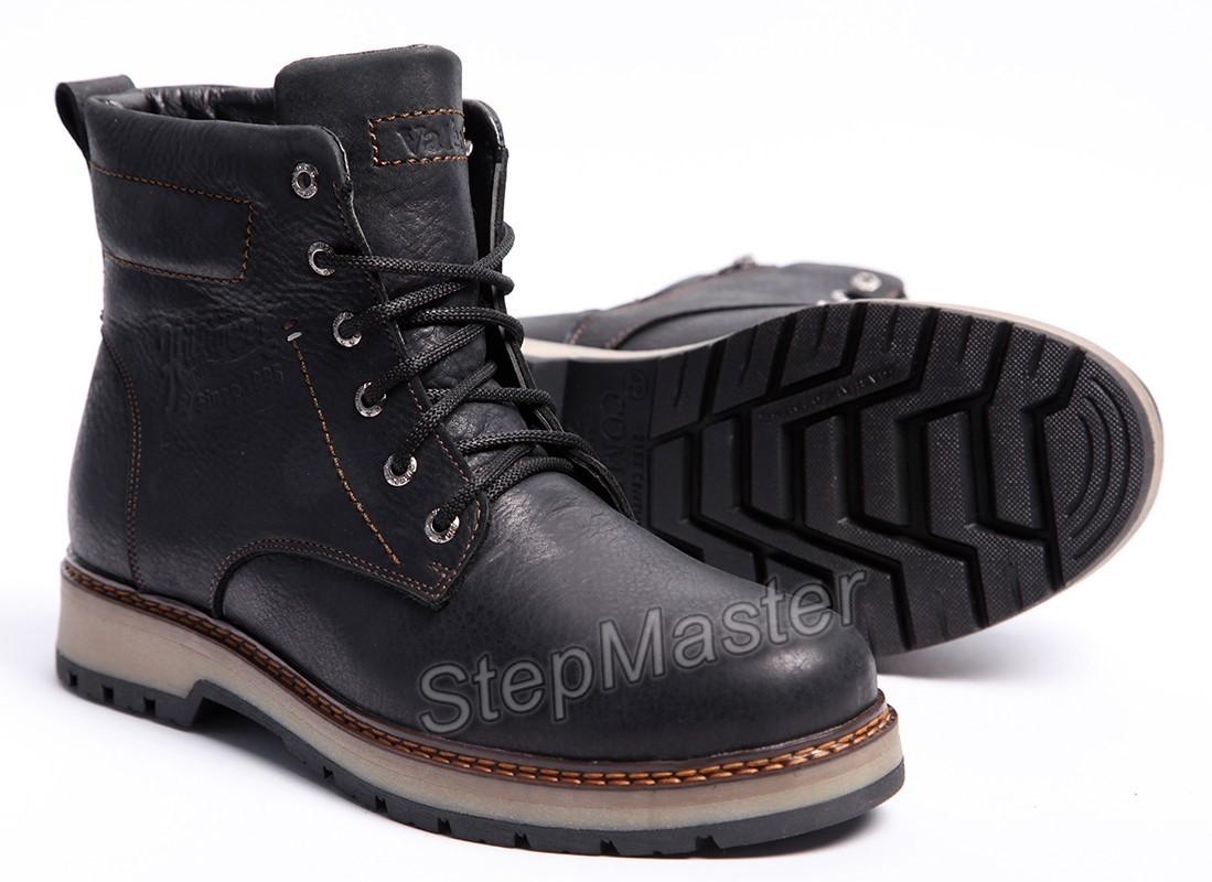 Ботинки кожаные Hilfiger Combat Black Boots