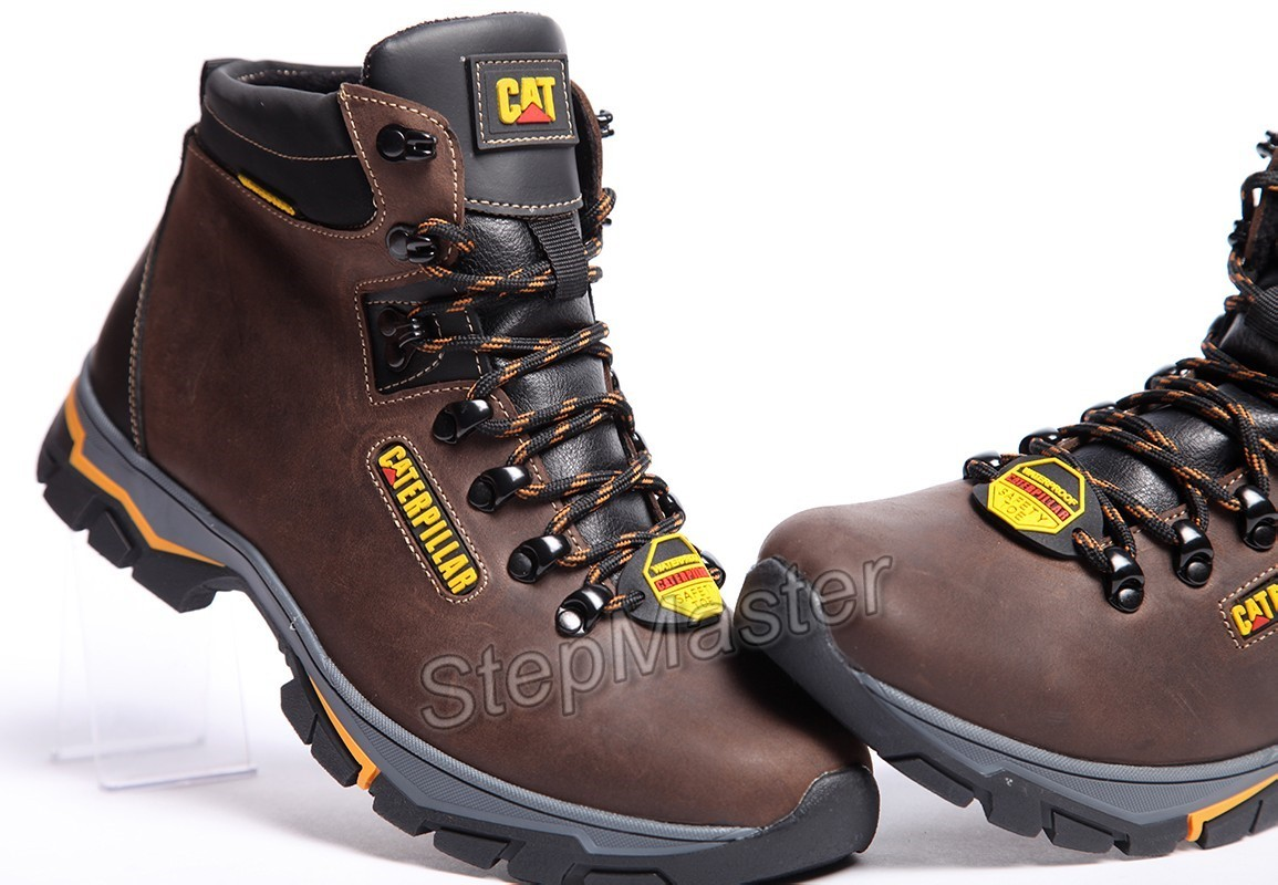 Ботинки кожаные зимние CAT Nubuck Strong