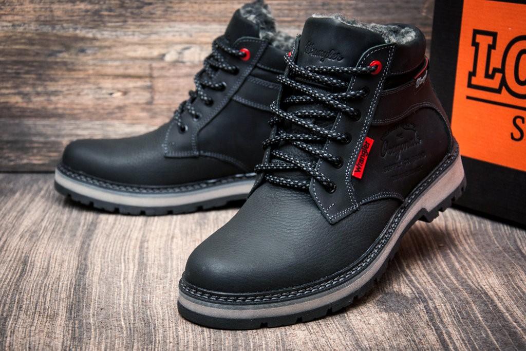 Ботинки кожаные зимние Wrangler Arizona Black