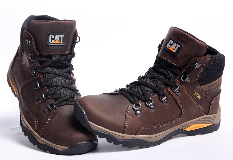 Кроссовки кожаные зимние CAT Walker Nubuck Brown