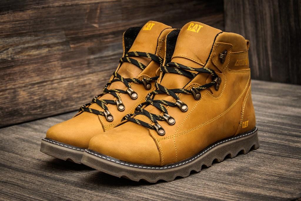 Ботинки кожаные зимние CAT Rider Yellow Boots