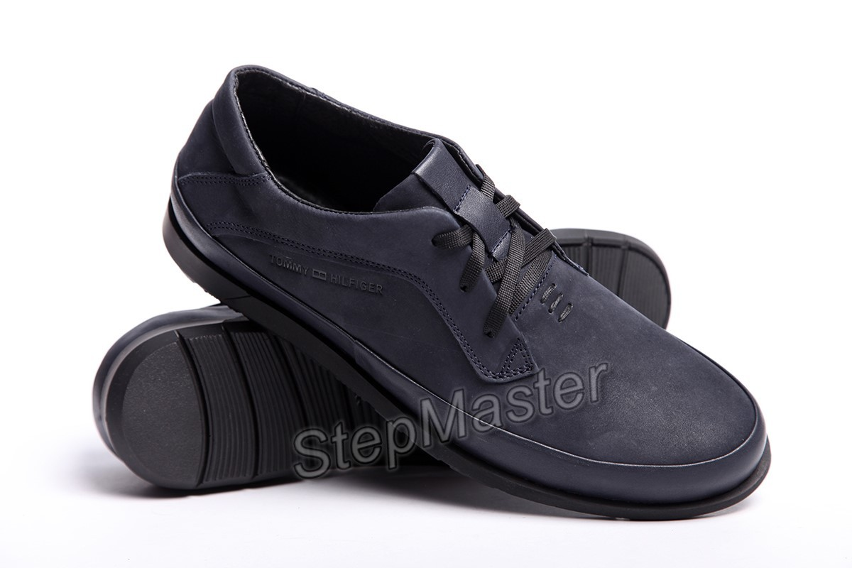 Кожаные мужские туфли Tommy Hilfiger Blue