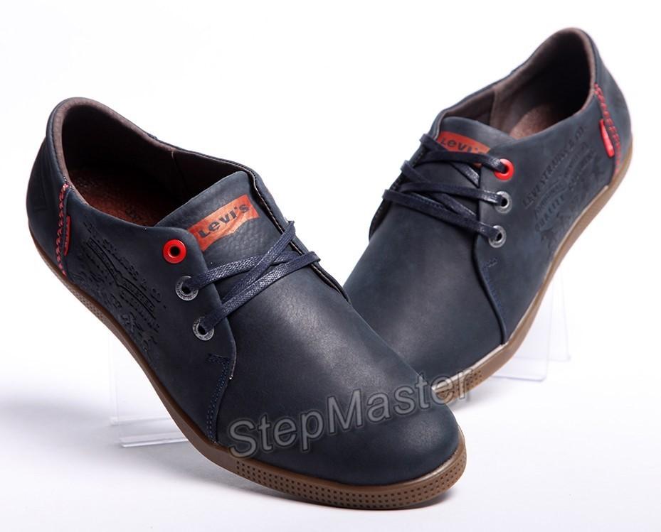 Спортивные кожаные туфли Levis Jeans