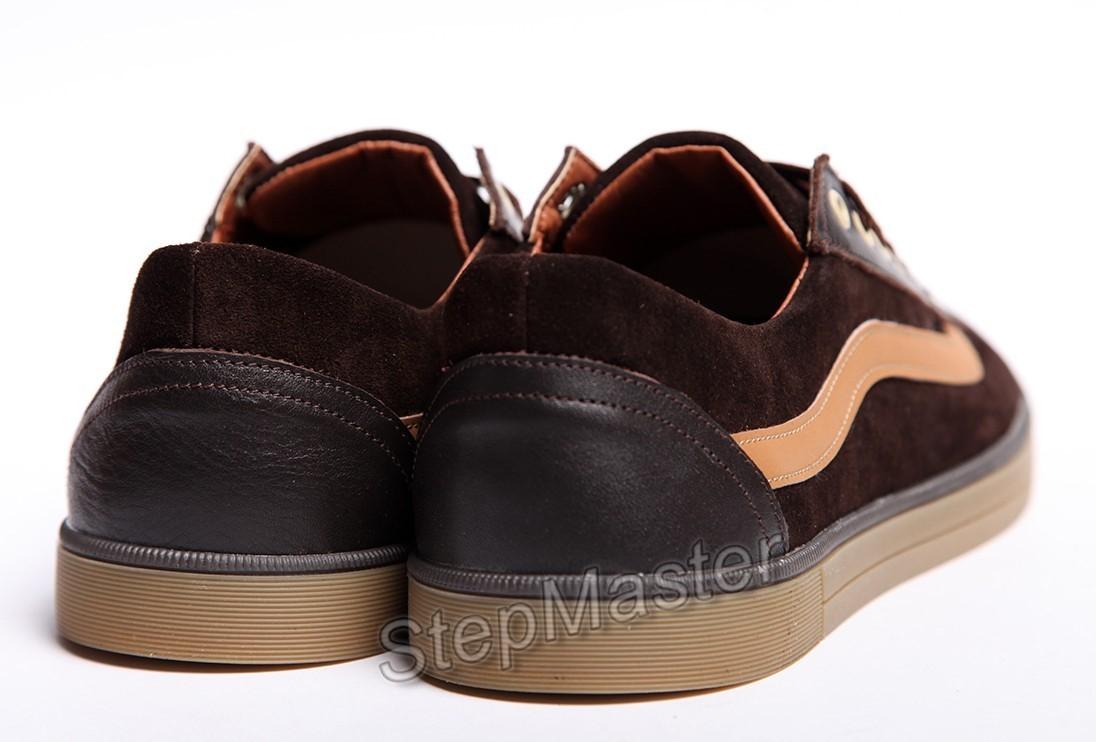 Кеды кожаные Vans Brown Suede - распродажа