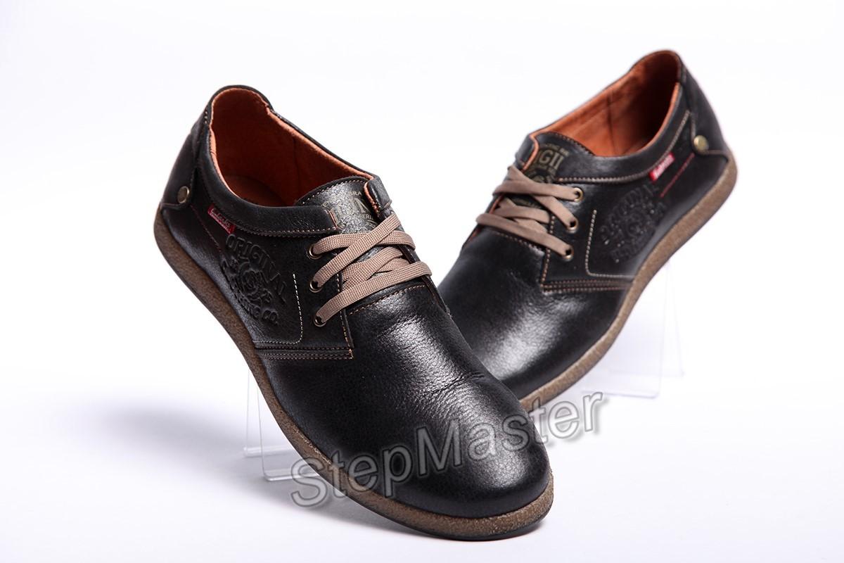 Мужские кожаные туфли Clarks Black Leather