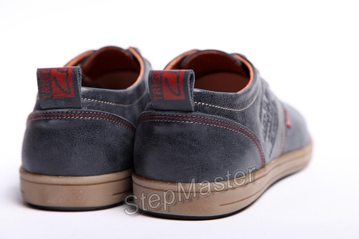 Мужские кожаные туфли Clarks Denim Leather