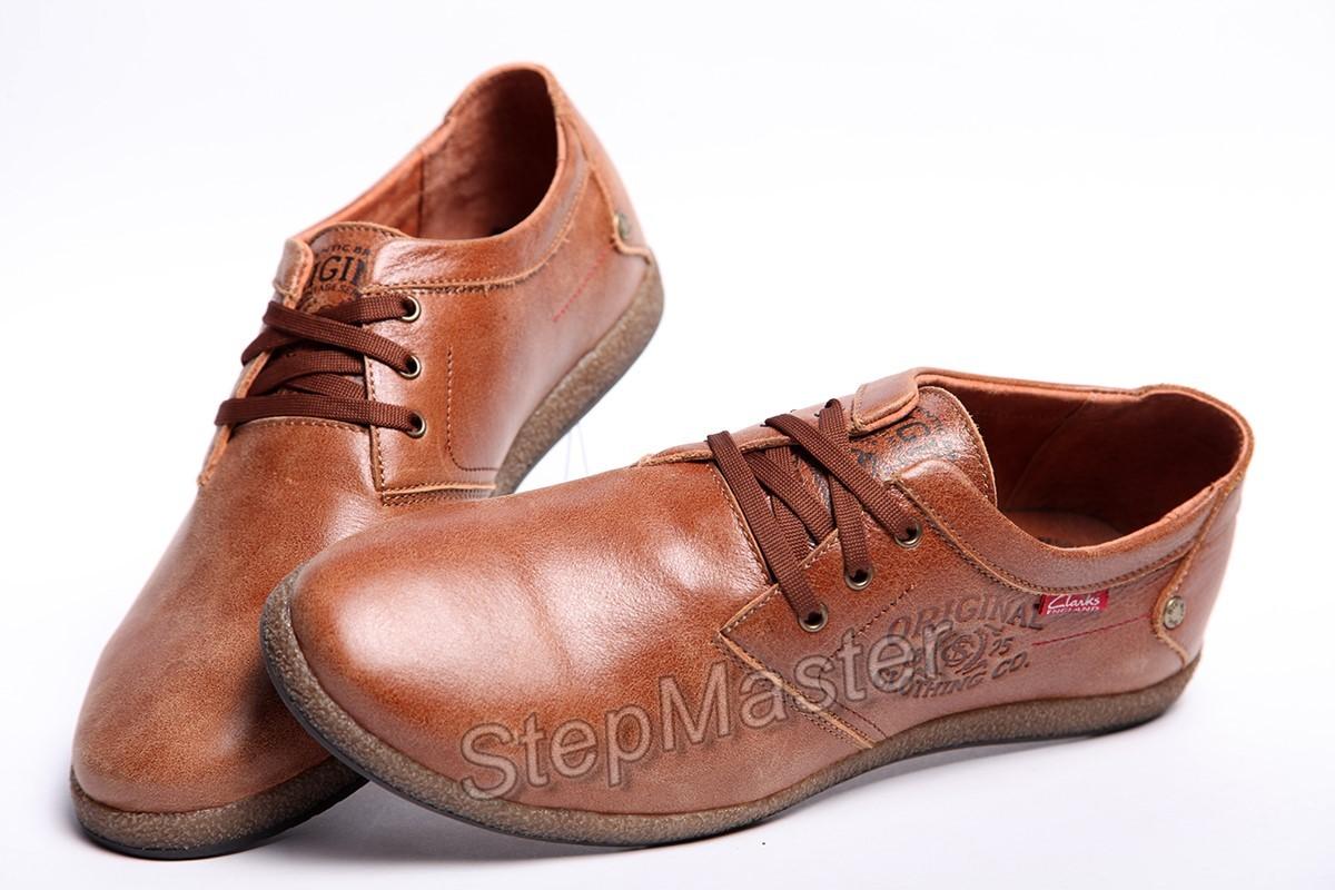 Мужские кожаные туфли Clarks Brown Leather