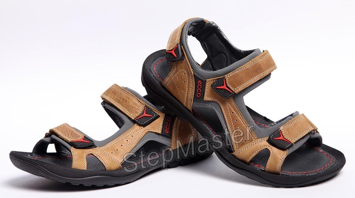 Кожаные сандалии Ecco Receptor Olive