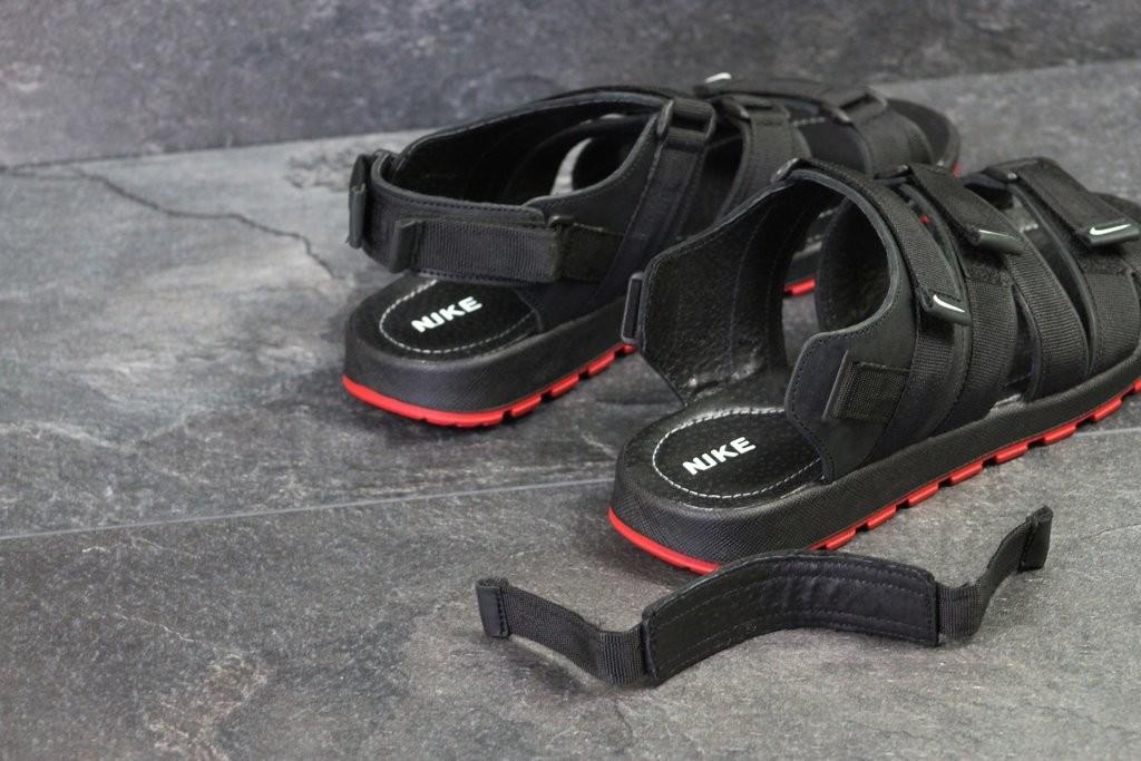 Мужские кожаные сандалии Nike Summer black