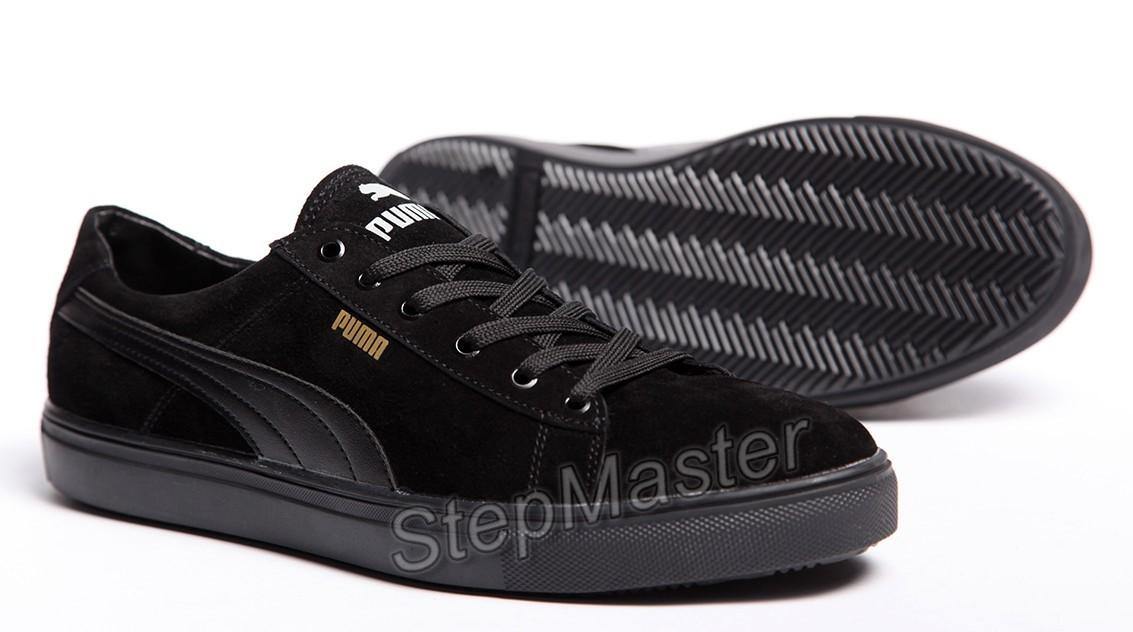Кеды кожаные Puma Suede Black