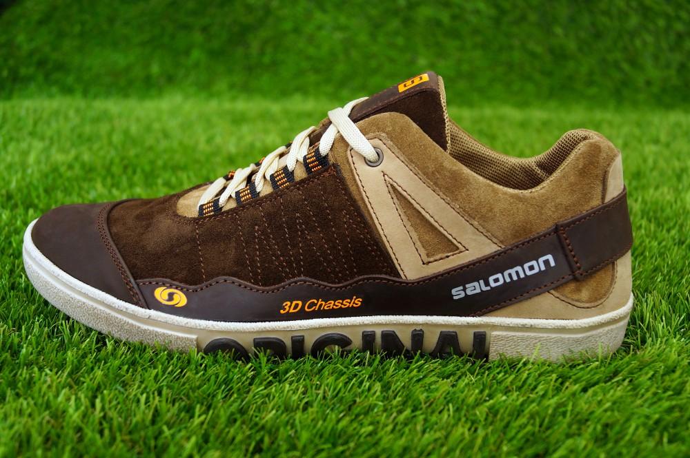 Кеды кожаные Salomon Brown Original