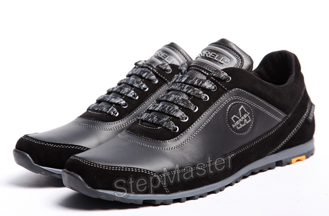Кроссовки кожаные Merrell Black-Grey