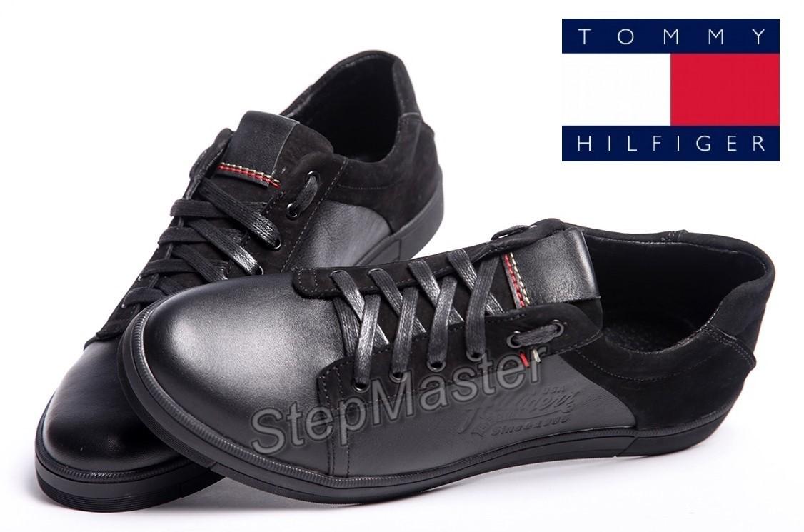 Кеды кожаные Tommy Hilfiger Black