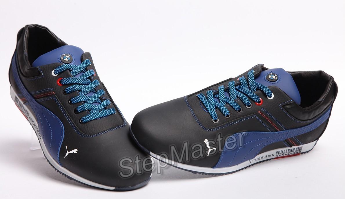 Кроссовки кожаные Puma BMW Motorsport Black-Blue
