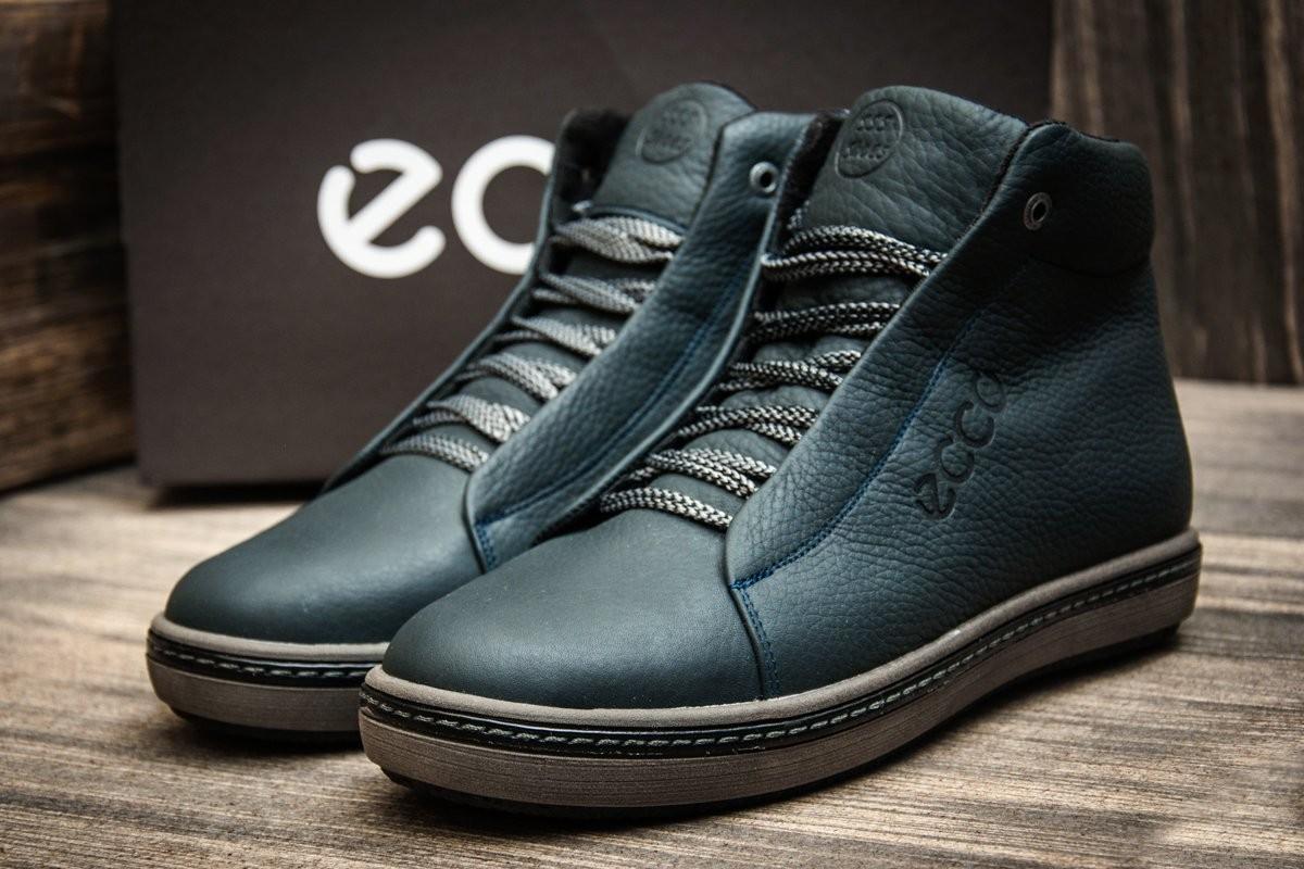 Кроссовки кожаные зимние ECCO Denim
