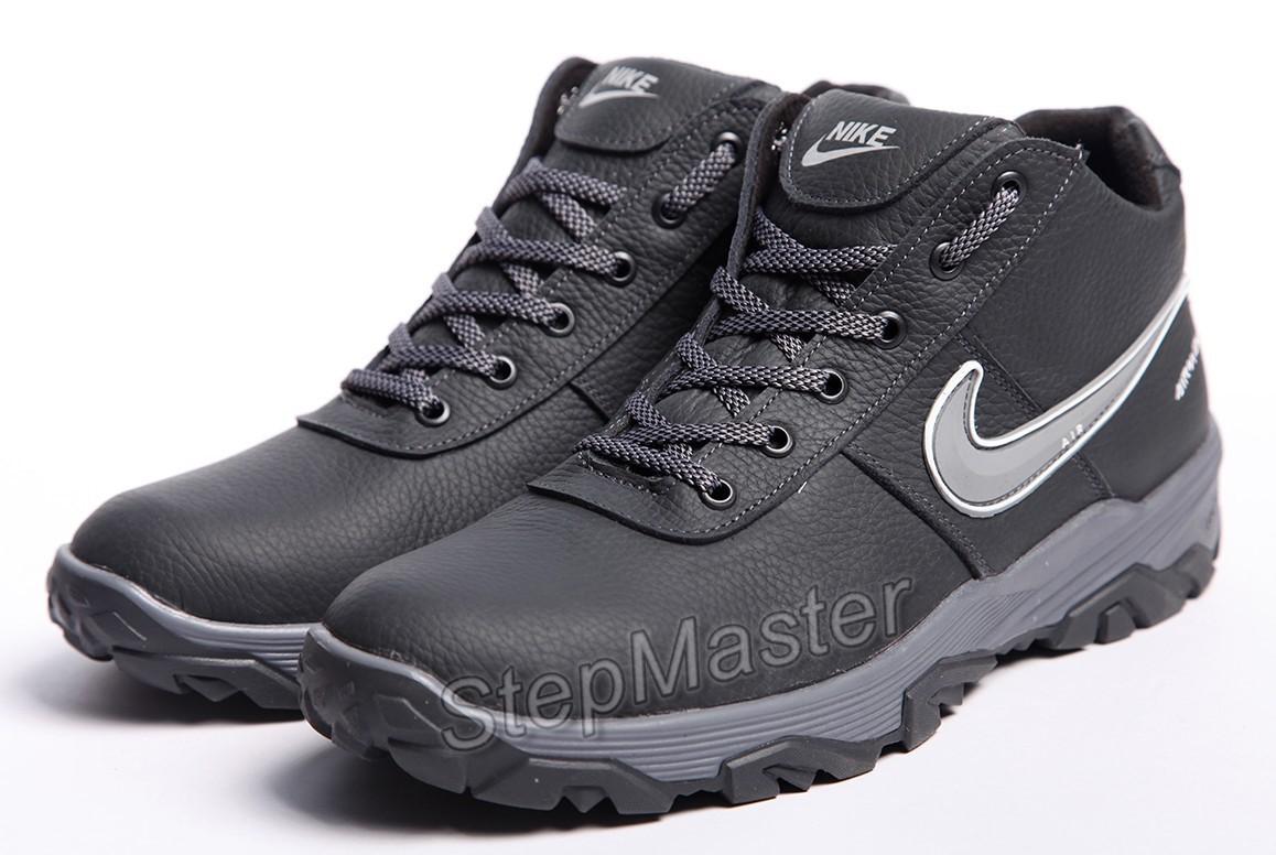 Кроссовки кожаные зимние Nike Snow Grip