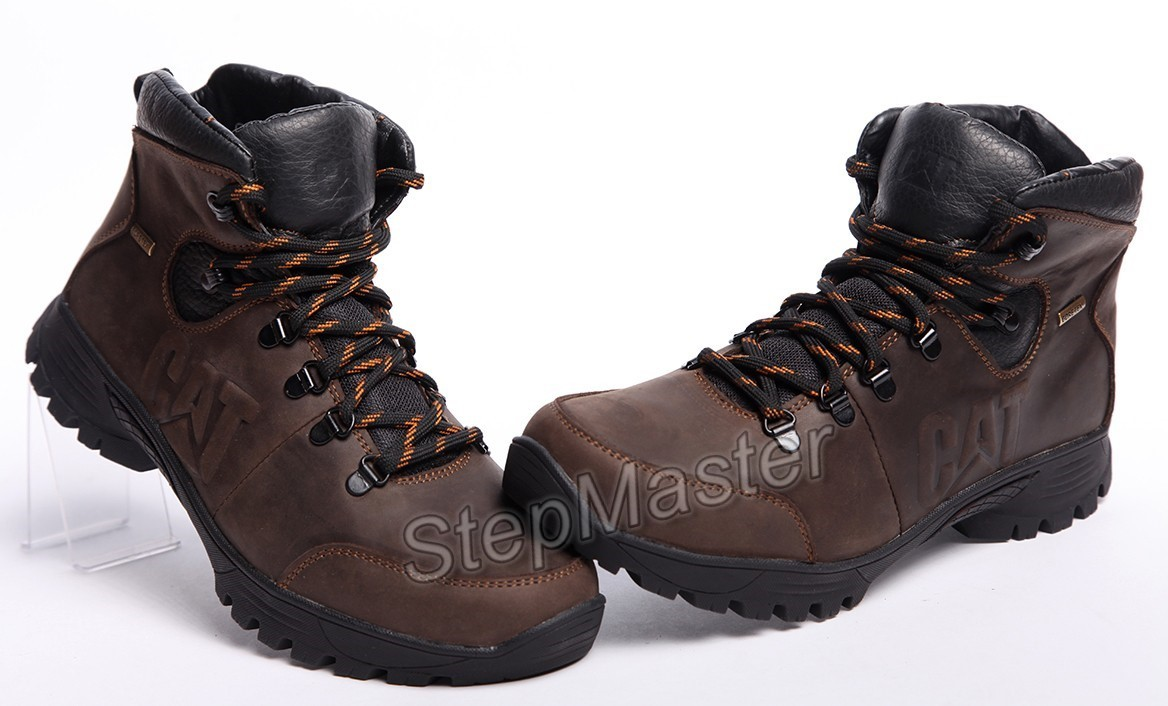 Ботинки кожаные зимние CAT Gore-Tex Nubuck Brown