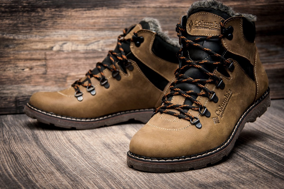 Ботинки кожаные зимние Columbia Highlander Olive