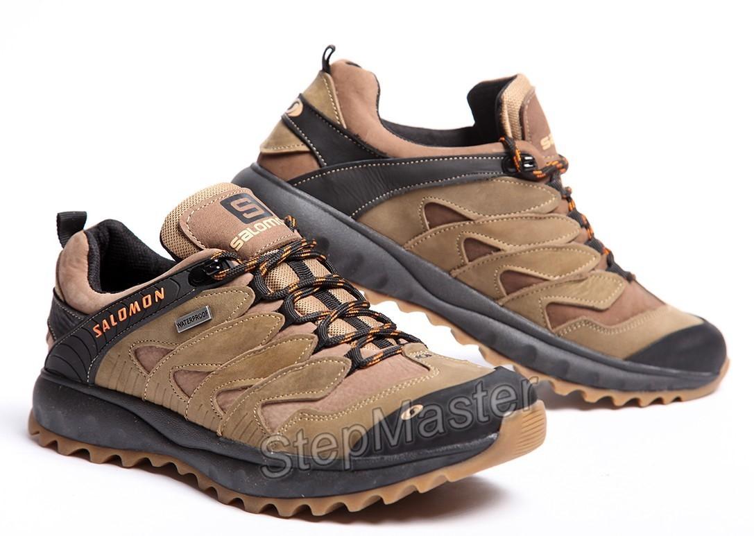 Кожаные кроссовки Salomon Dragon Skin Olive