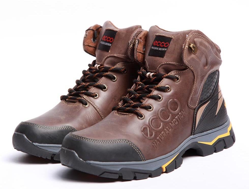 Ботинки кожаные зимние Ecco Natural Motion