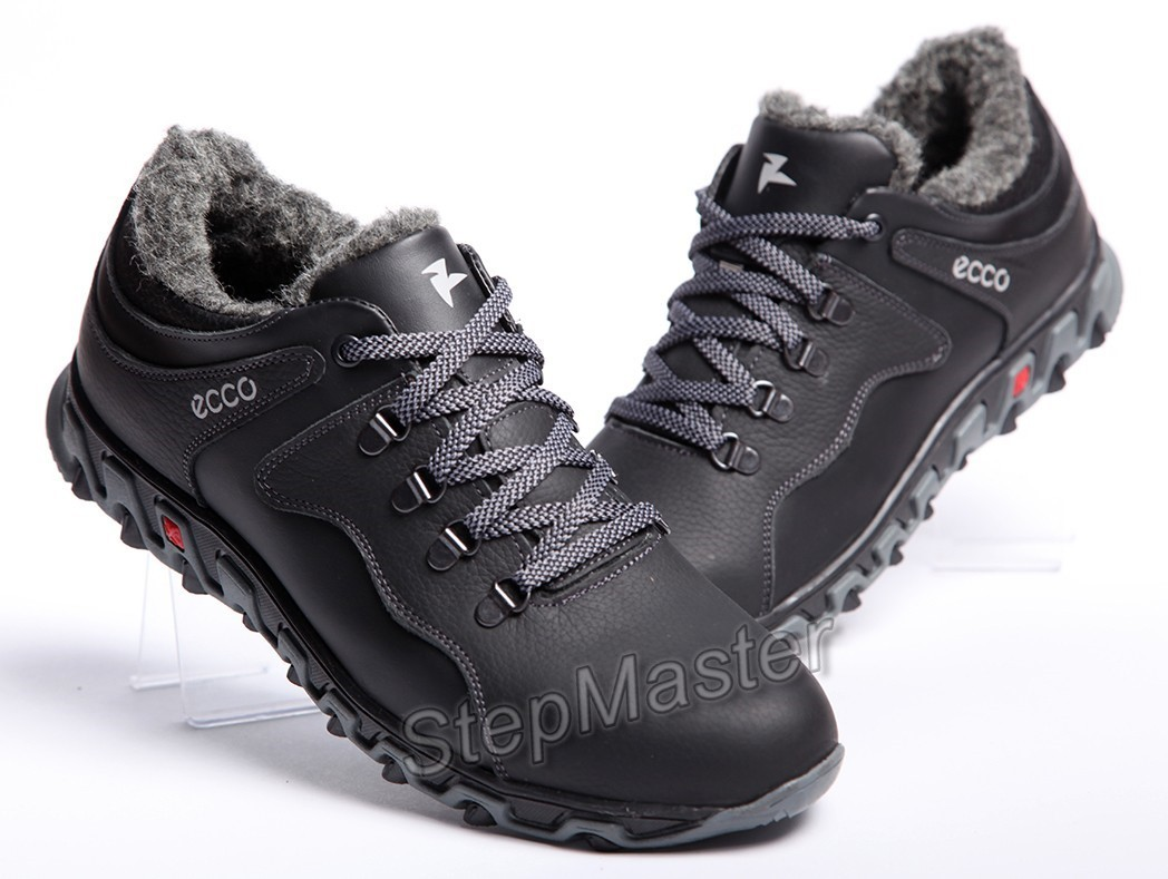 Кроссовки кожаные зимние ECCO Track