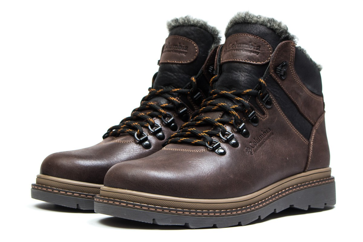 Зимние кожаные ботинки Columbia Chinook Brown