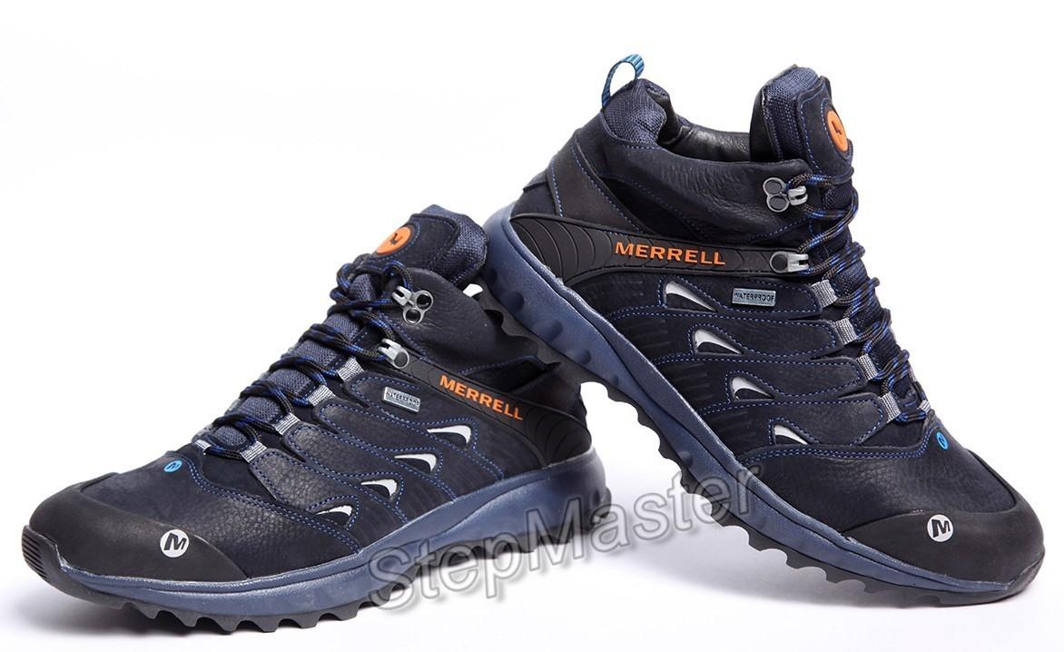 Зимние кожаные кроссовки на меху Merrell Nubuck Denim