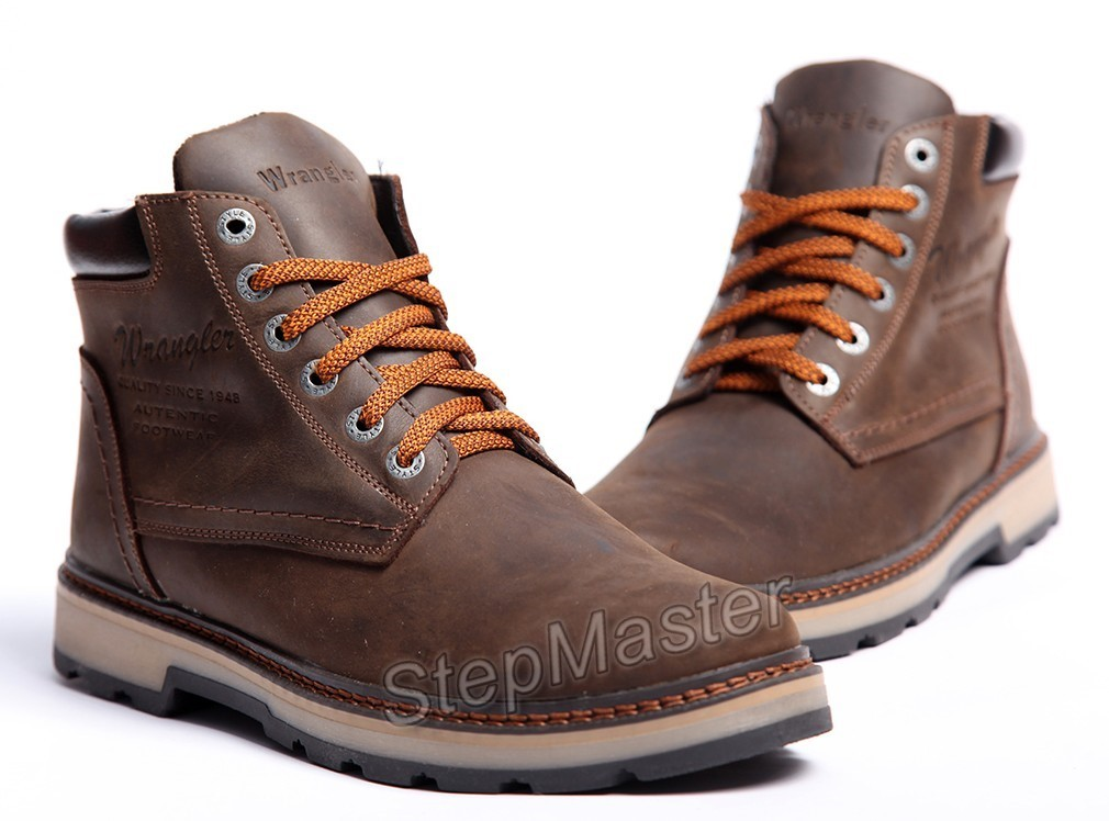 Зимние кожаные ботинки на меху Wrangler Costa