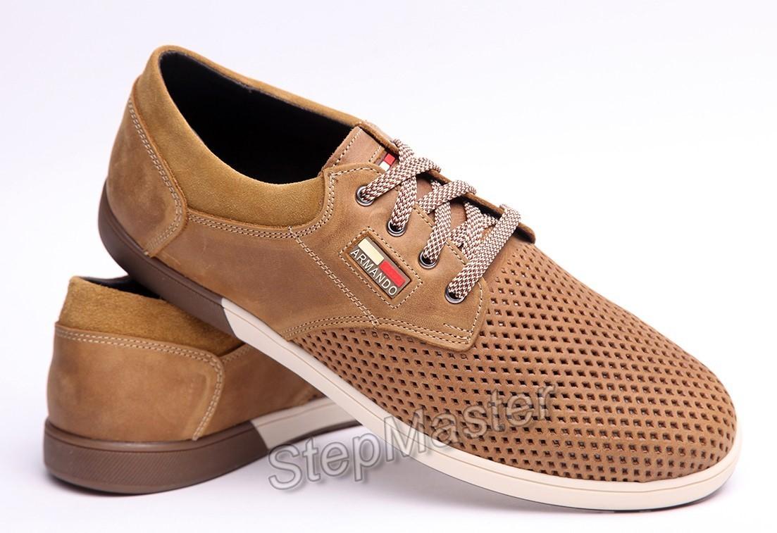 Спортивные туфли Hilfiger Armando Olive - натуральный нубук с перфорацией