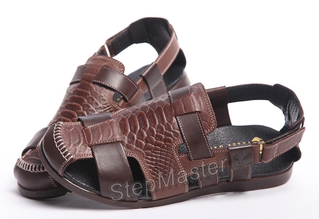 Сандалии кожаные Kristan Reptile Brown