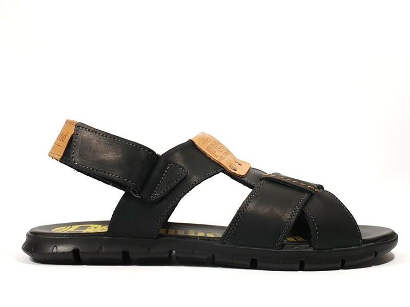 Сандалии-шлепанцы кожаные Timberland Pro черные