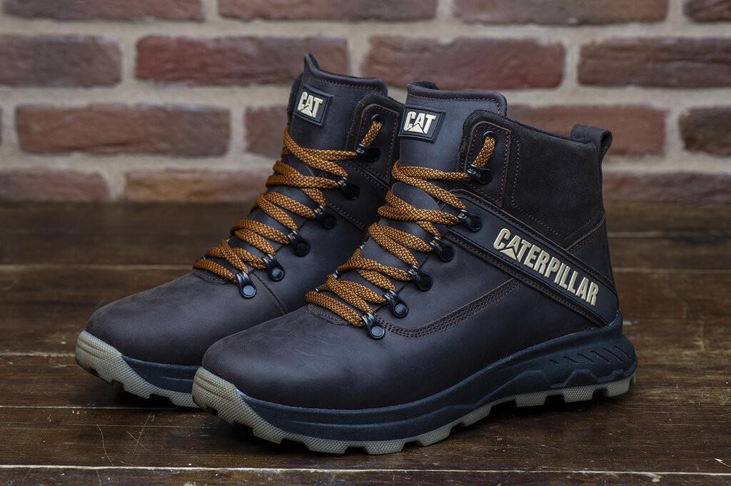 Ботинки кожаные зимние CAT Winter Ranger Brown