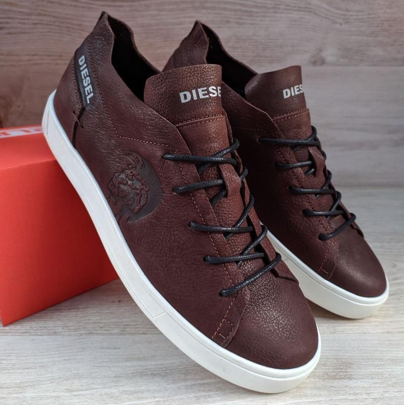 Кеды кожаные Diesel Pirate Brown