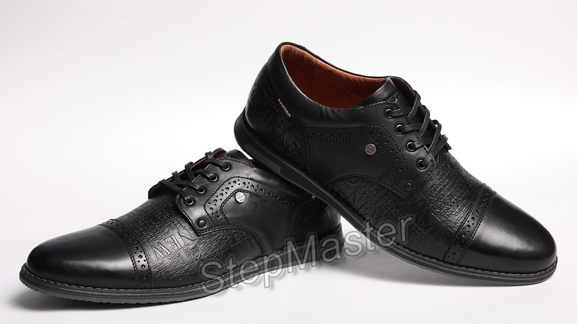 Кожаные туфли броги Kristan Impression Black