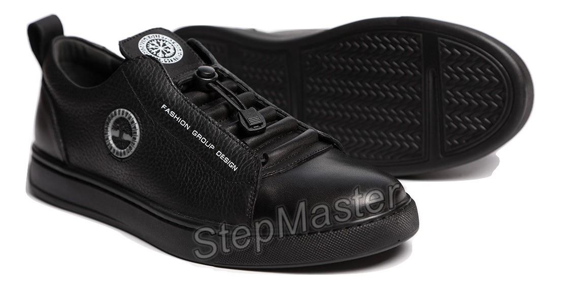 Кожаные кеды кроссовки Kristan Trident Black