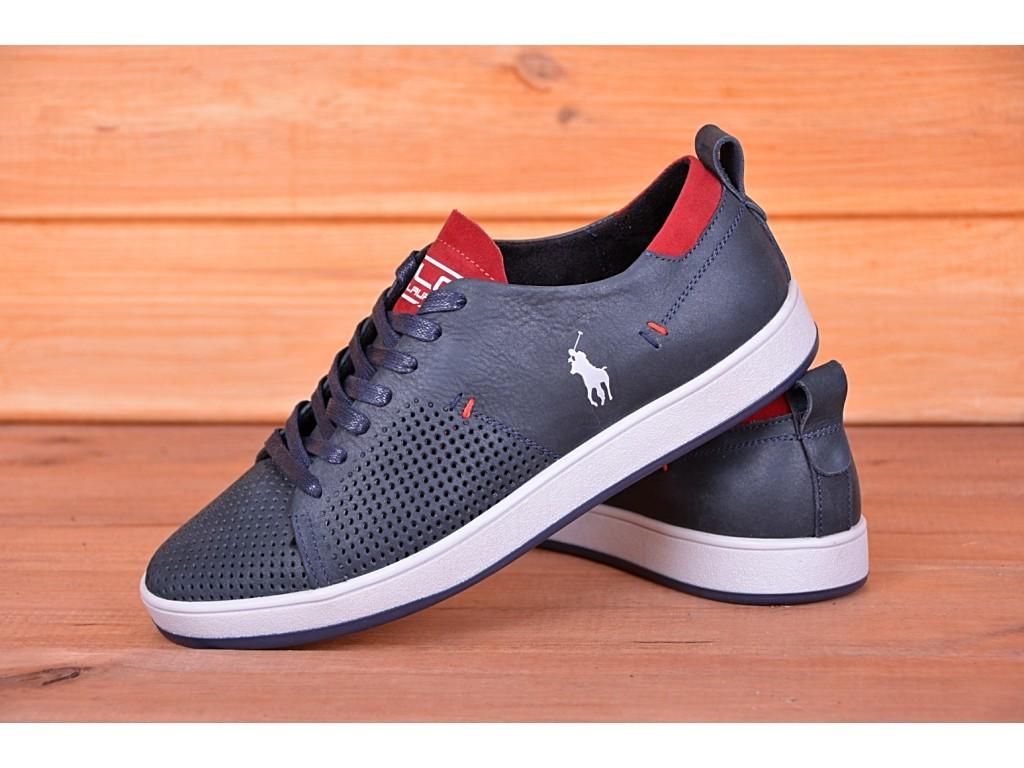 Кеды кроссовки мужские кожаные Polo Ralph Lauren с перфорацией