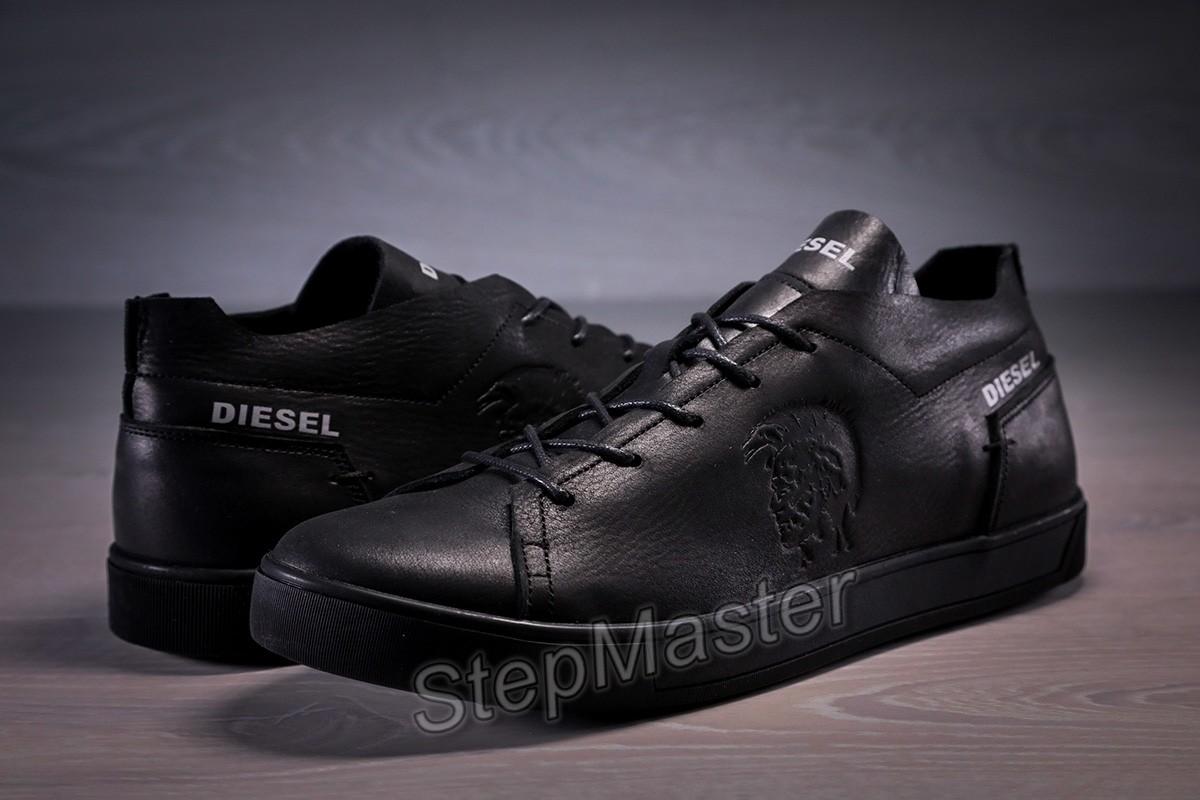 Кеды кожаные Diesel Pirate Black