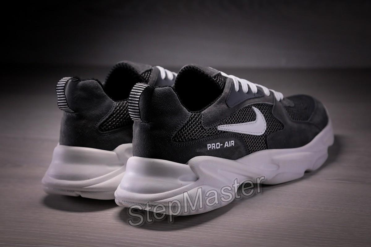 Кроссовки мужские Nike Air кожа нубук сетка