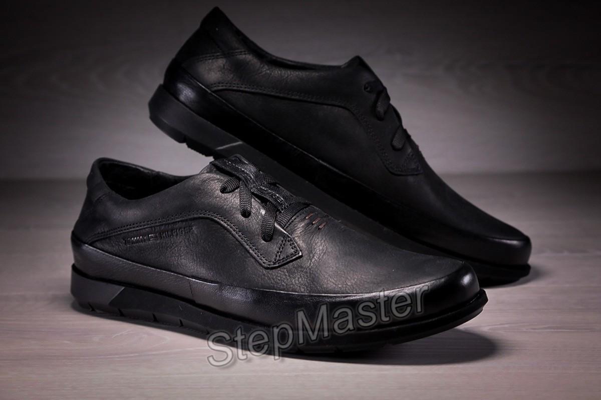 Кожаные мужские туфли Tommy Hilfiger Black