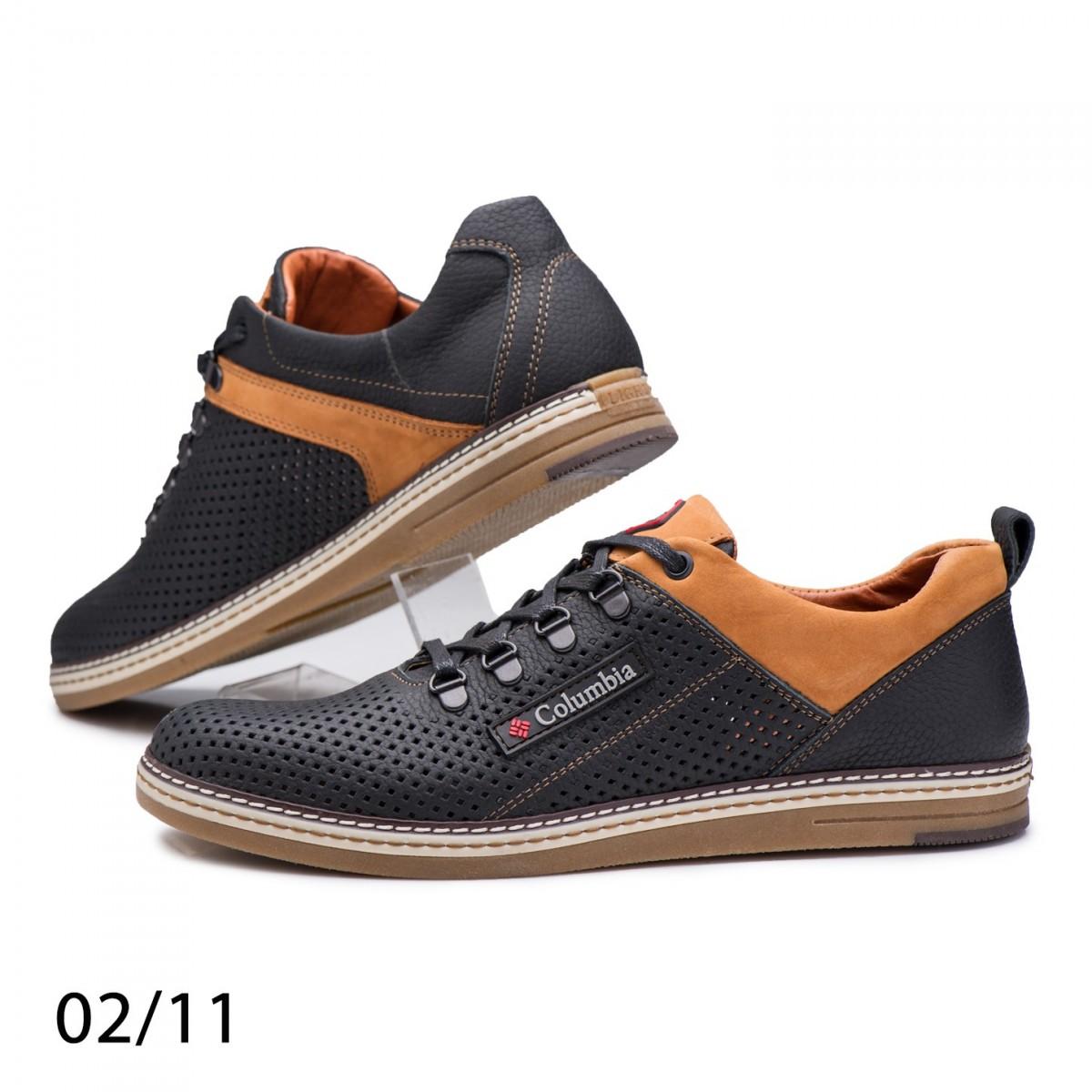 Спортивные туфли Columbia 02/11 натуральная кожа с перфорацией