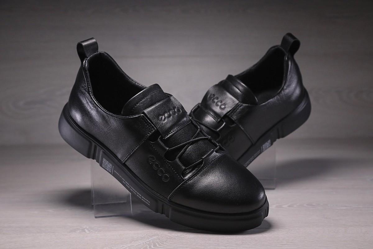 Кроссовки мужские кожаные ECCO черные