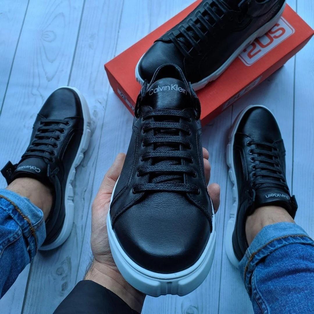 Кожаные мужские кеды кроссовки Calvin Klein Ultra Light