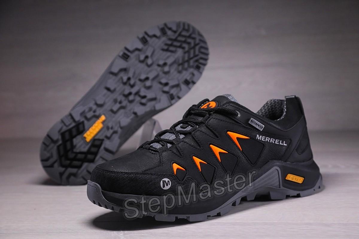 Кроссовки мужские Merrell Waterproof Black, натуральная кожа