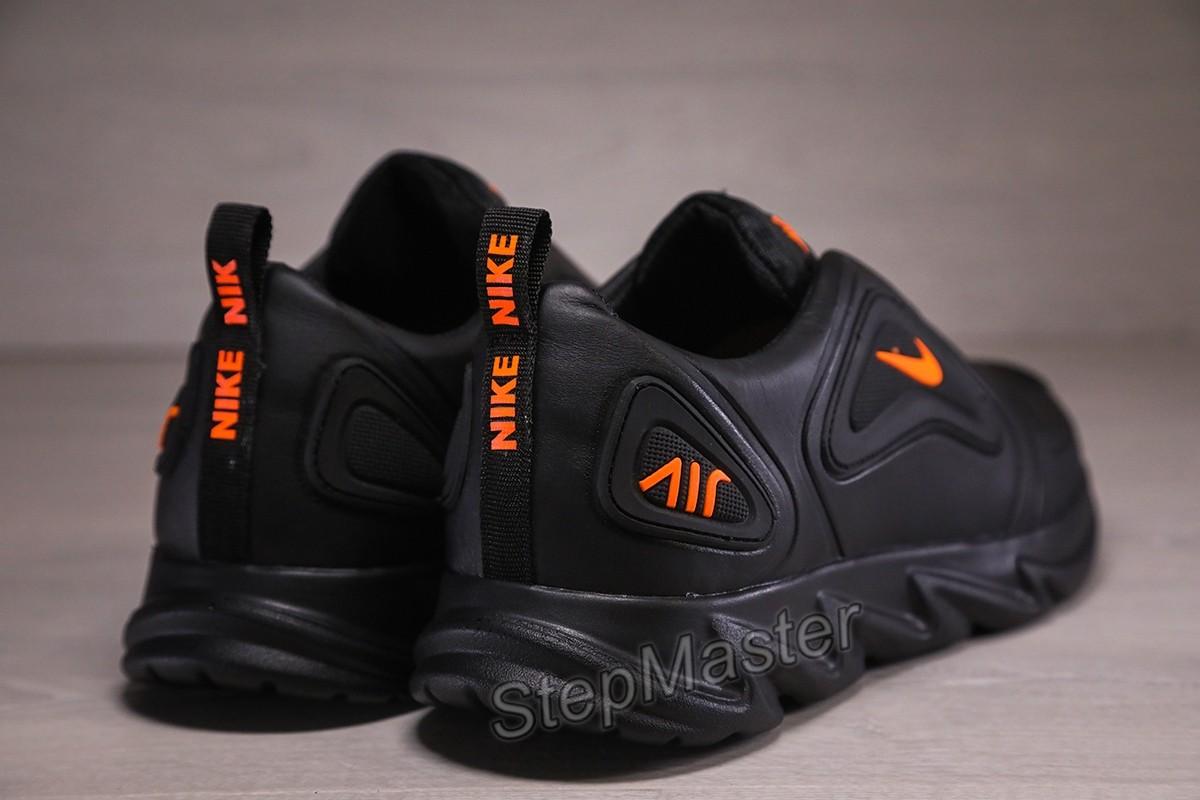 Кроссовки кожаные мужские Nike Air Max Black-Orange