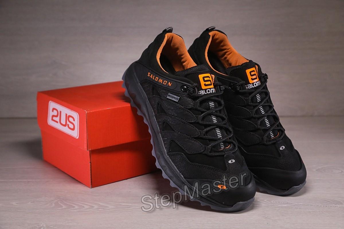 Кожаные кроссовки Salomon Dragon Skin Black