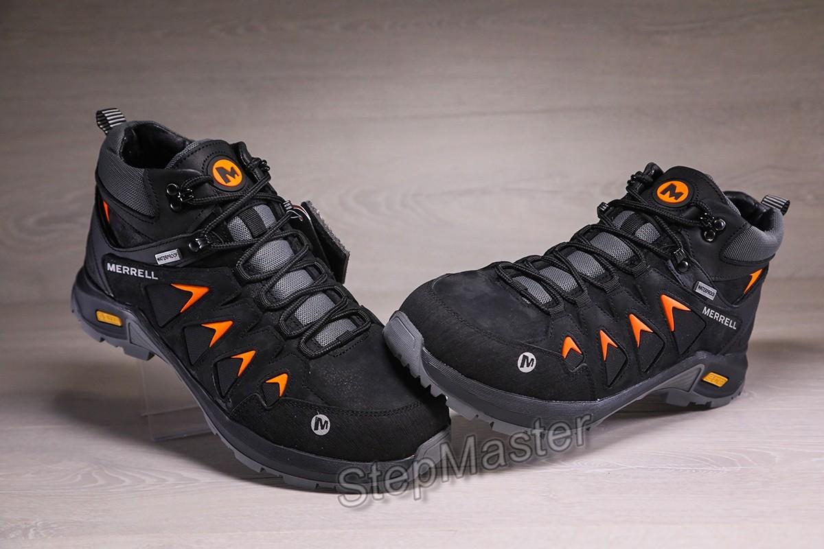 Зимние кожаные кроссовки Merrell Gore-Tex Waterproof черные