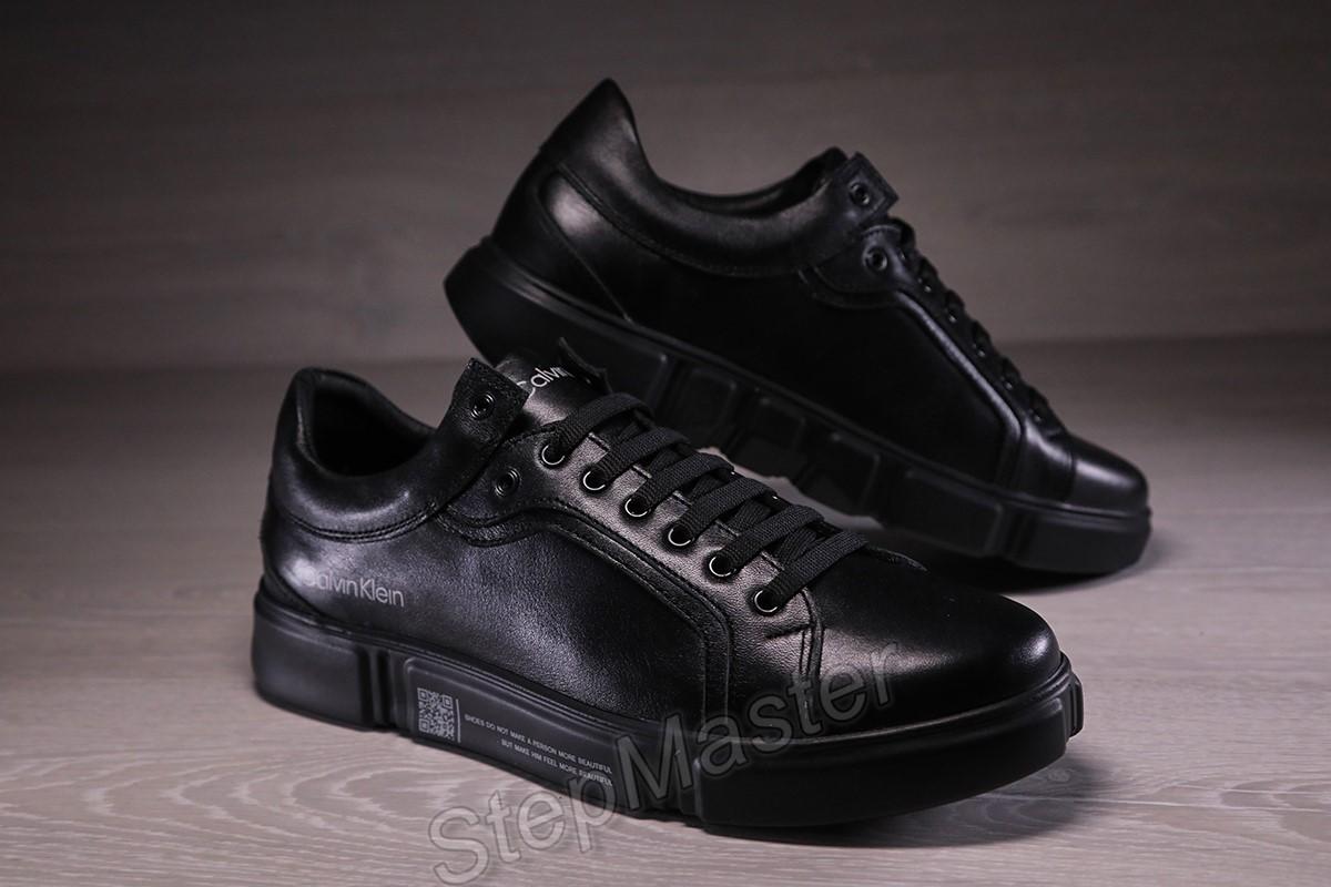 Кожаные мужские кроссовки кеды Calvin Klein Falconi
